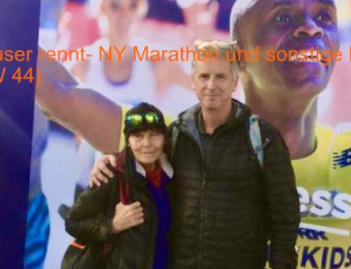 Deuser rennt – NY Marathon und sonstige Events (KW 44)